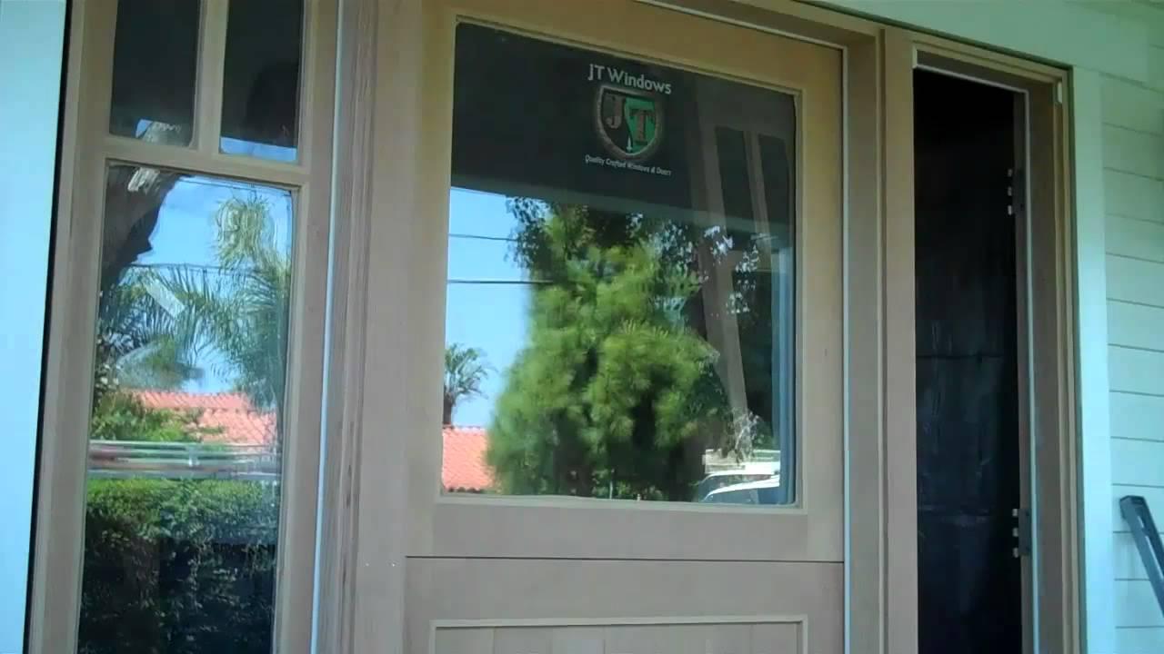 Custom Dutch Door With Active Side Lights In Orange County