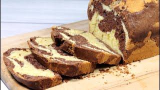 Нежный, вкусный мраморный кекс. Классический рецепт простой выпечки к чаю