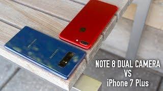 Note 8 Dual Camera Tour vs iPhone 7 Plus Portrait Mode