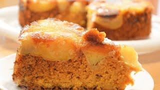 Шарлотка с яблоками и медовым бисквитом | Apple Sharlotka Recipe (Apple Cake)
