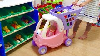 メルちゃん ベビーショッピングカートでお買い物 / Mell-chan Doll Grocery Shopping , Shopping Cart Toy