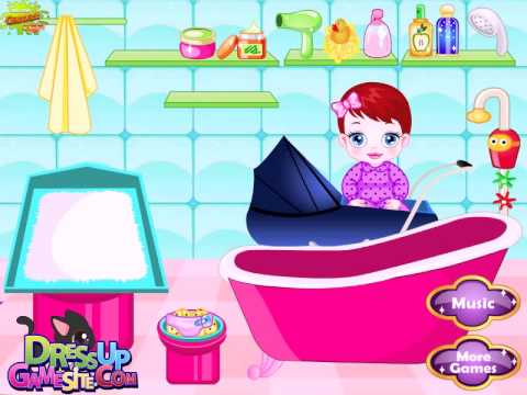 ** BABY LULU caring bathing and dress-up video game **** video game for baby and girls baby hazel Travel Video