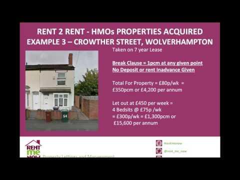 The Basics of Rent 2 Rent - Making It Work with Arsh Ellahi (Webinar Recording) 26.08.2014