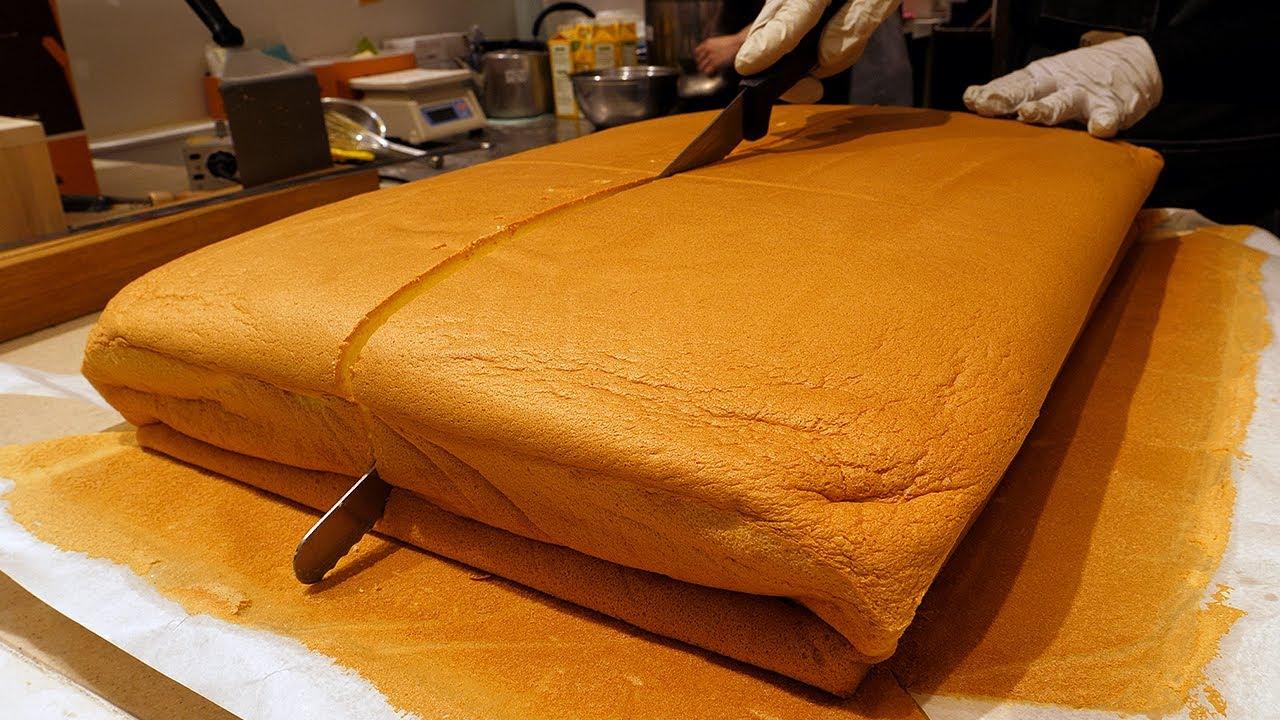 치즈 대왕카스테라, 생크림 대왕카스테라 / cheese giant castella, cream giant castella  - korean street food