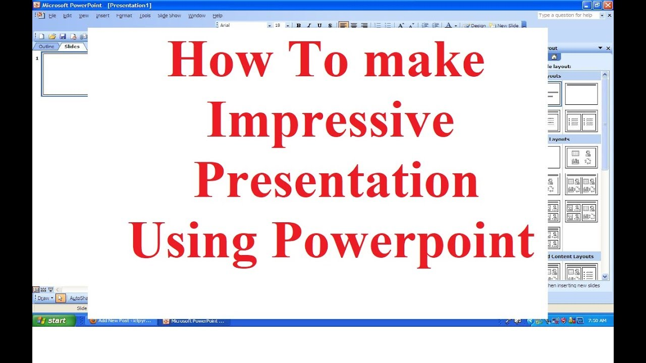 How to make a impressive presentation using the ms powerpoint how to make a impressive presentation using the ms powerpoint ccuart Gallery