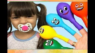 Aprendendo as cores | Baby Balloon Song Learn Colors for Babies with Balloons and Finger Family Song