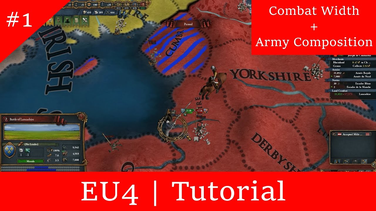 EU4 | Tutorial: Combat Width and Army Composition