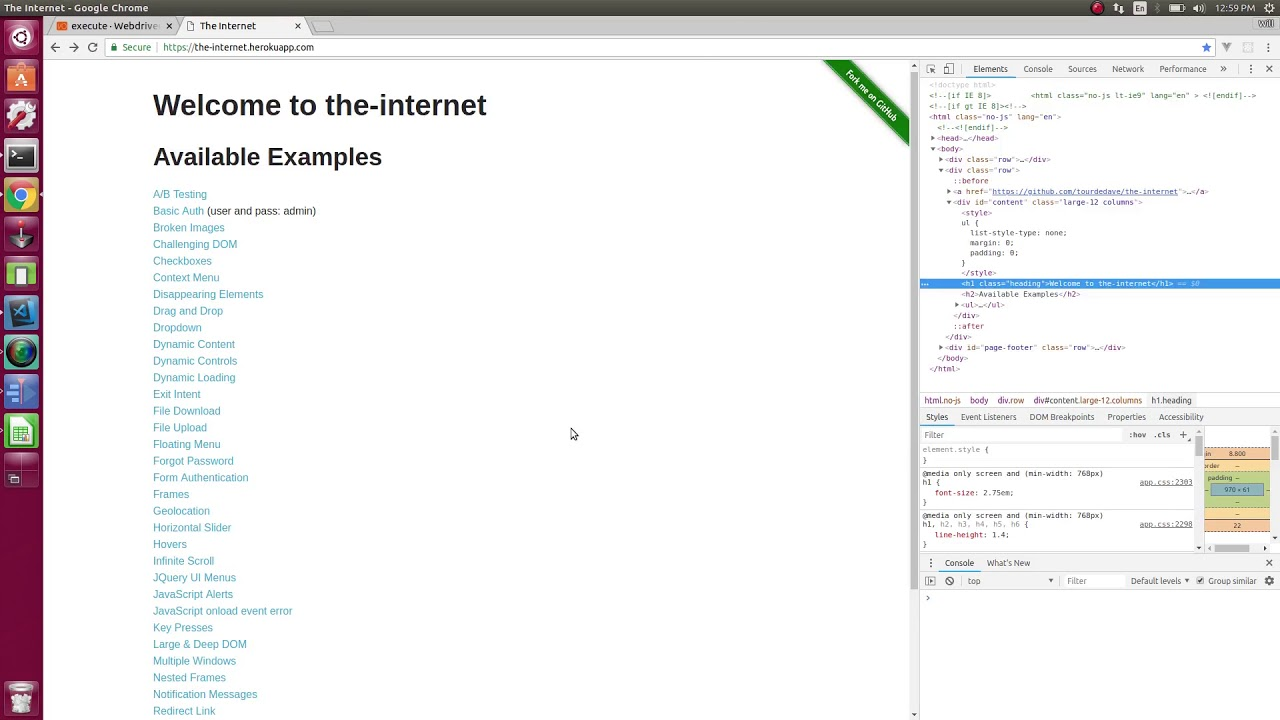 16 Browser execute for client side javascript - WebdriverIO