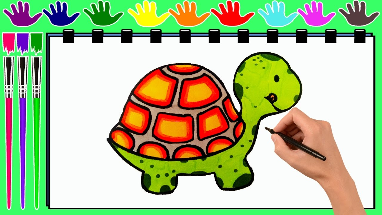 coloring pages turtle drawing pages to color for kids by kasima