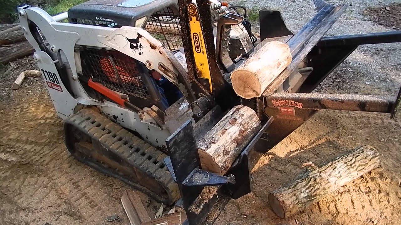 Wood Splitter C Amp C Equipment Bobcat T190 Skid Steer