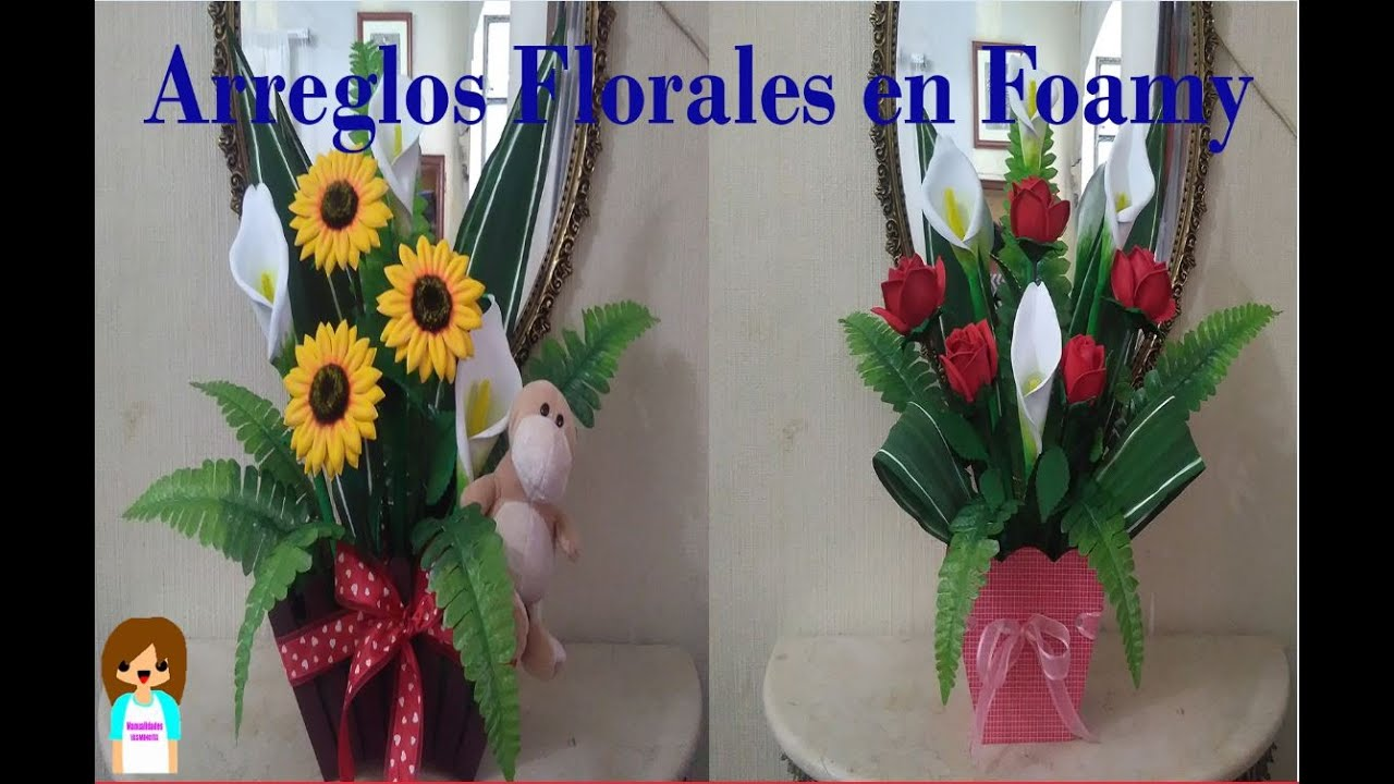 arreglos florales en foamy youtube