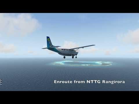 X Plane 11 - South Pacific - French Polynesia Island Hopping