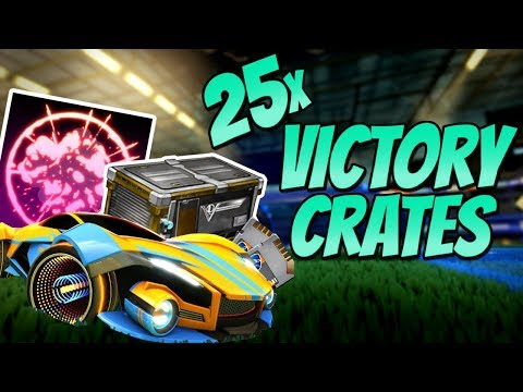 OPENING 25 NEW VICTORY CRATES (Rocket League BLACK MARKET / NEW CAR / Crate Opening) thumbnail