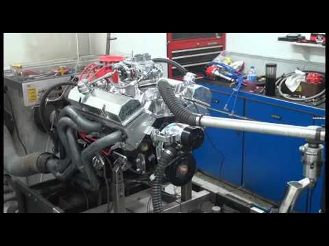 SBC 484HP 383 STROKER ENGINE DYNO RUN FOR BOB STEPHENSON BY WHITE PERFORMANCE AND MACHINE