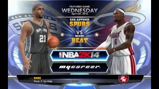 How To Play NBA2K14 Without CD KEY/ GAMEPLAY HEAT vs SPURS