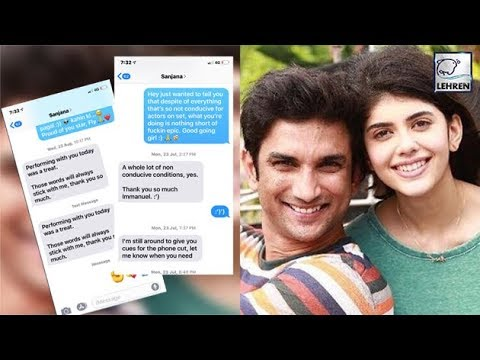 Sushant Singh Rajput Leaks Co-Star Sanjana's Messages Online | LehrenTV