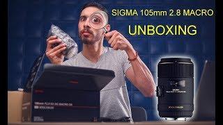فتح علبة عدسة سيجما ١٠٥ مم ماكرو Sigma 105mm Macro UNBOXING