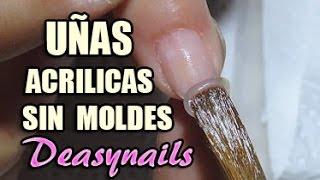 Nueva técnica Uñas acrilicas al aire - Cómo hacer uñas acrilicas sin molde Deasynails