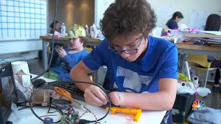 This Program Empowers Kids By Helping Them Create 'Superhero' Prosthetics | NBC Nightly News