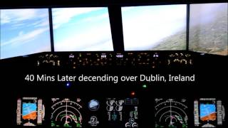 Boeing 737 Home Built Simulator - Max Graphics - Southampton to Dublin