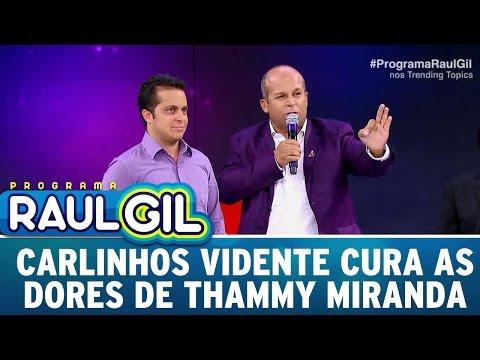 Carlinhos Vidente cura as dores de Thammy Miranda | Programa Raul Gil (29/04/17)