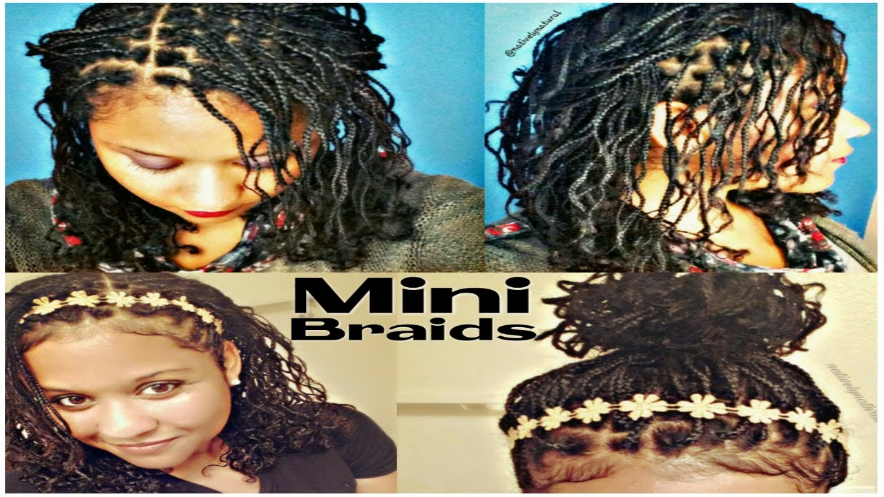 Mini Braids No Weave Natural Hair Protective Style For Length