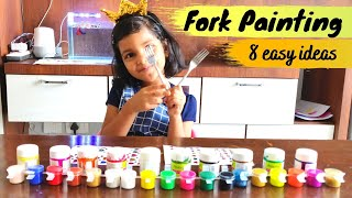 Fork Painting for Kids | Easy Fork Painting ideas