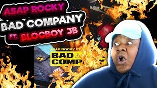 AWESOME COLLAB!! A$AP Rocky - Bad Company (Audio) ft. BlocBoy JB REACTION!!!