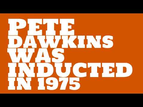 When was Pete Dawkins inducted into the College Football Hall of Fame?