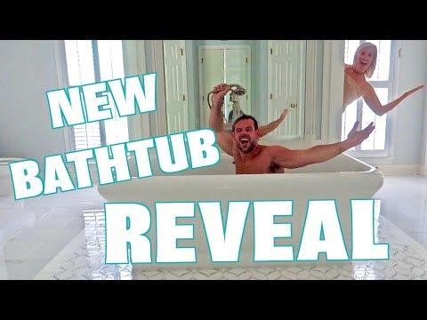 CUSTOM BATHTUB REVEAL! (Before and After)