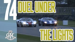 Ford GT40s Dueling at Dusk