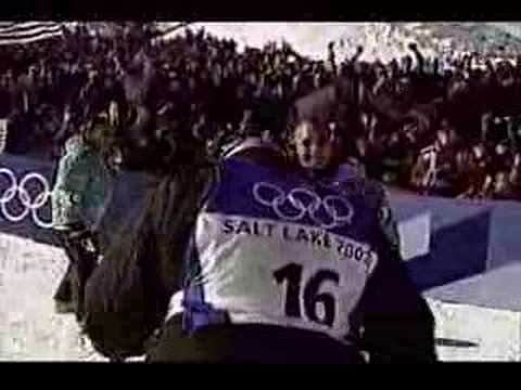 Jonny Moseley Men's moguls final at The Salt Lake City Olympic 2002