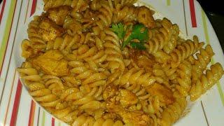 Easy & Quick Chicken Pasta Recipe .Red Sauce Chicken Pasta.Cook With Saba.