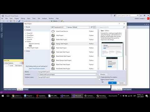 Python Django Visual Studio 2017 Crear Proyecto