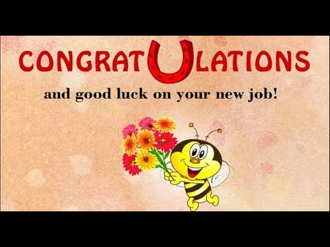 Best Wishes For New Job Message And Status -Congratulations Message
