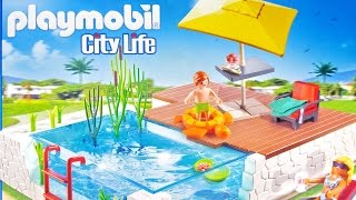 PLAYMOBIL City Life 5575 Pool Plus Patio Playset ❤ For Kids Worldwide