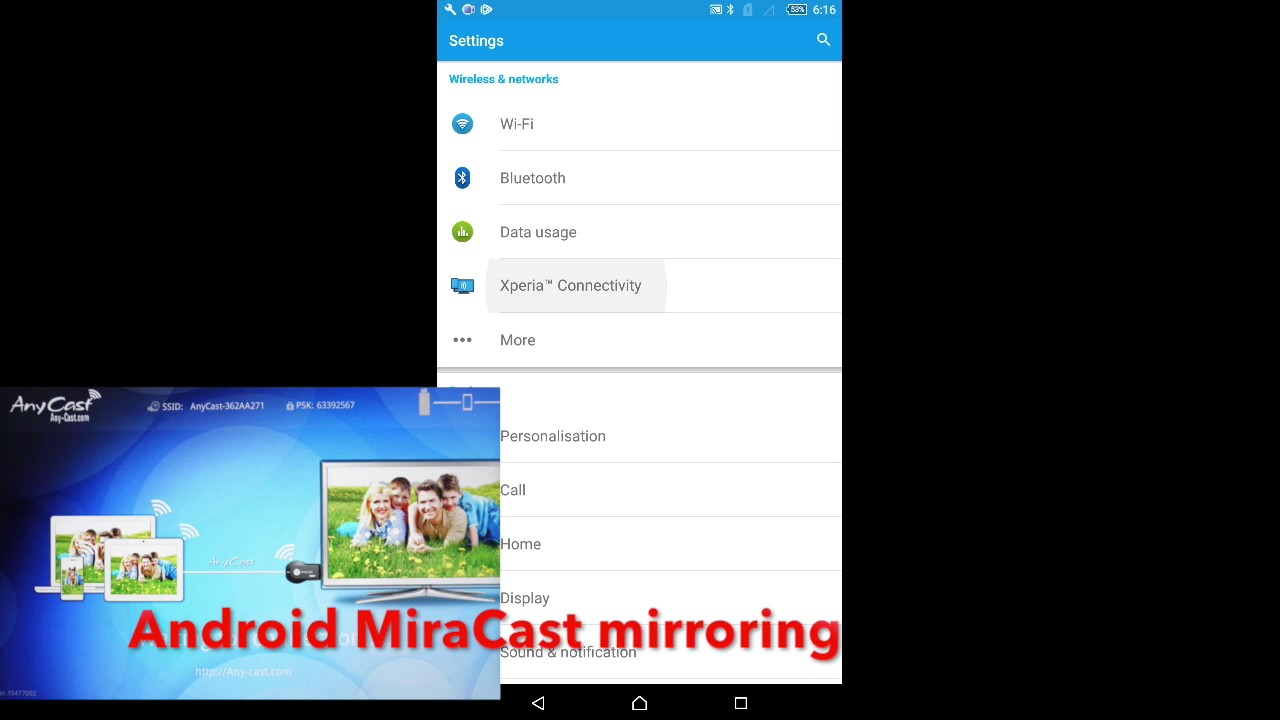 AnyCast for Android Setup and Mirroring