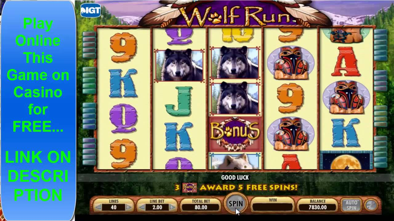 free online slot machines wolf run video slots online