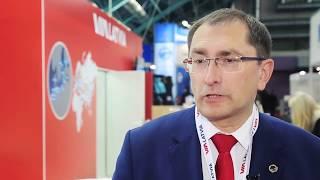 Талис Линкайтс министр сообщения Латвийской республики на выставке Транспорт и Логистика 2019
