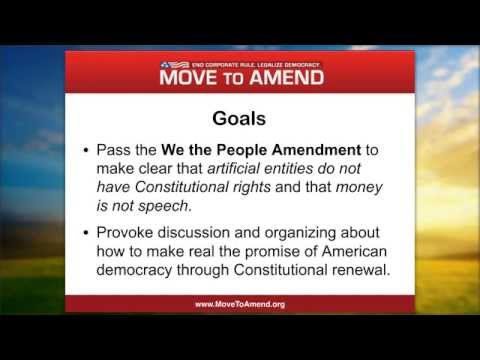 Take Action Webinar: Introduction to Move to Amend (August 2015)