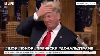 Дональд Трамп разрешил испортить себе прическу