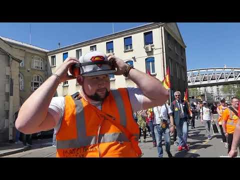 CONVERGENCE DES LUTTES LE 19 04 A PARIS AVEC L'USB ITALIEN