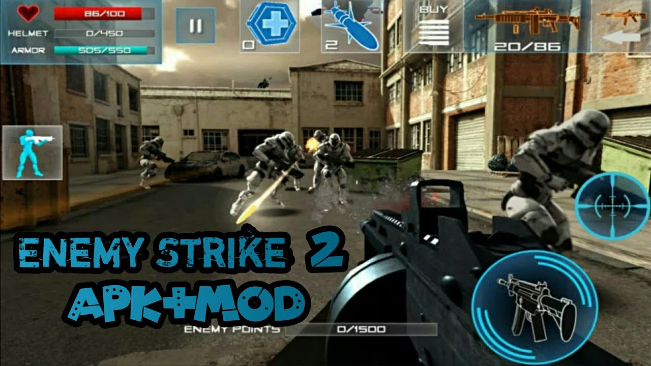 حصريا تحميل: Download Enemy Strike 2 mod apk unlimited money and gold No  ads | 55 MB v 1 0 4
