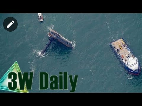 Seacor Power liftboat flipped over: Moment vessel carrying 19 people capsizes off Louisiana