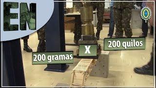 Engenheiros do IME no Desafio: Ponte 200 Gramas vs Peso 200 Quilos