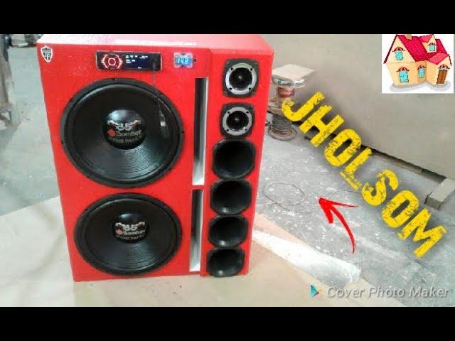 caixa bob esponja 2 bicho papão de 15 tocando soundigital 400 e hurricane (JholSom)