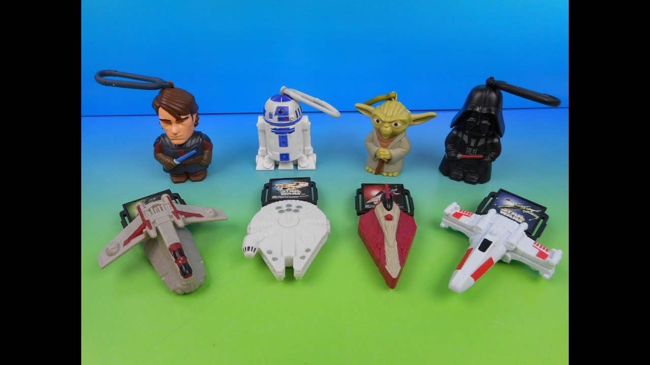 2010 STAR WARS SET OF 8 McDONALDS HAPPY MEAL KIDS TOYS VIDEO