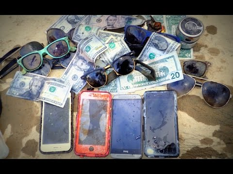 Thumbnail: River Treasure: iPhones, Cash, iHome, Raybans And MOAR!