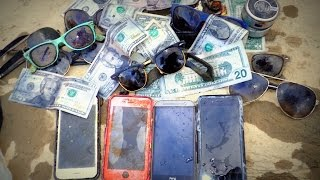 River Treasure: iPhones, Cash, iHome, Raybans And MOAR! | Aquachigger