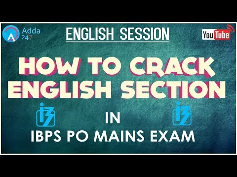 How To Crack English Section In IBPS PO MAINS -  Online Coaching for SBI IBPS Bank PO